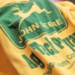 "1970s-80s USA S/S ""JOHN DEERE"" Print Football T-Shirt"