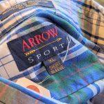 1970s-80s USA ARROW S/S Check Button-Down Shirt