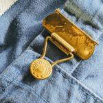 1950s-60s EURO  Herringbone Cotton Twill Over All W37