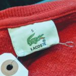 French Lacoste Crew neck Wool Sweater