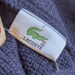 Bigsize French Lacoste Pullover Wool Knit Sweater Mens-XL
