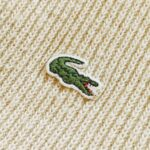 French Lacoste Wool Knit Zip-up Cardigan Mens-L