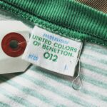Italy UNITED COLORS OF BENETTON S/S Border Tee Green Mens-L