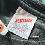 1980s-90s JERZEES L/S Print Tee Black Mens-L