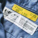1970s-80s USA UniFirst L/S Cotton Work Shirt Blue Mens-M