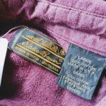 1980s USA Eddie Bauer L/S Cotton Chamois cross Shirt Bordeaux Mens-L