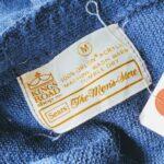 1970s-80s USA Sears Acrylic Knit Cardigan Navy Mens-M